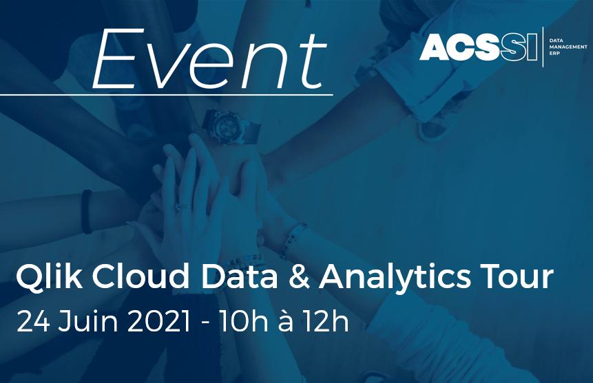 Qlik Cloud Data & Analytics Tour | Le Jeudi 24 Juin 2021